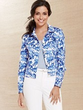 Bloom Print Sateen Jacket