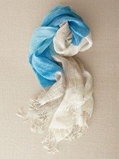 Fringed Linen Scarf