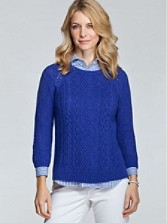 Ripple Crop Sweater