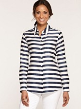 Satin Striped Shirt