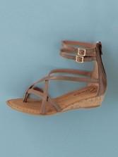 Zip-back Sandals