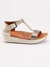Flatform T-strap Sandals