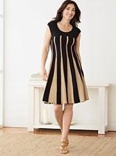 Linear Lines Twirl Dress