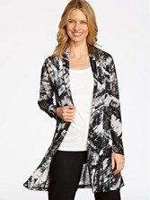 Long Cadiz Print Cardigan