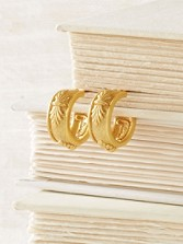 Acanthus Hoop Earrings