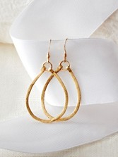 Dinah Teardrop Hoop Earrings