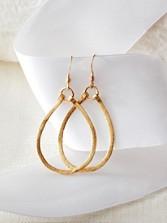 Dinah Teardrop Hoop Earrings