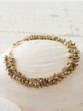 Bundled Up Pyrite Bracelet