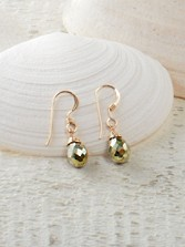 Petite Drop Pyrite Earrings