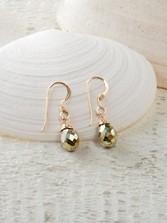 Petite Drop Pyrite Earrings