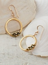 Wrap Hoop Pyrite Earrings