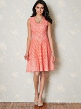 Papaya Twirl Dress