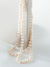 Double-strand Knot Pearl Necklace