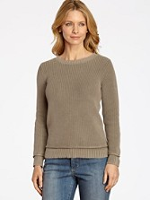 Button Back Shaker Sweater