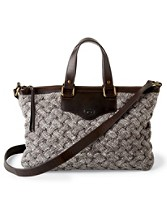 Eva Cable Knit Satchel