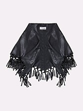 Rio Leather Fringe Scarf