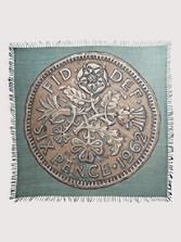Sixties Sixpence Coin Scarf
