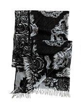 Handpainted Paisley Scarf