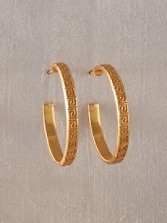Greek Key Hoop Earrings