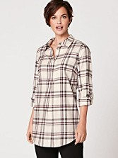Plaid Brit Tunic