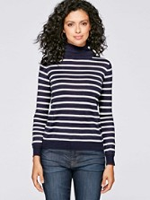 Bi-stripe Turtleneck