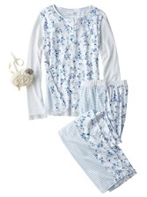 Floral/stripe Pajama Set