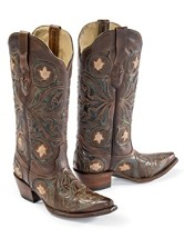 Tulip Inlay Boots