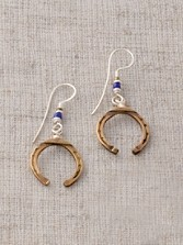 Bronze Horseshoe Earrings