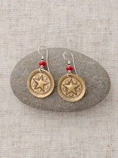 Bronze Sunburst Star Earrings