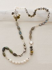 Pearl And Labradorite Necklace