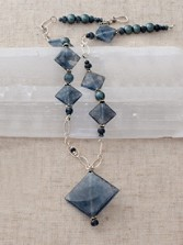 Grey Quartz Pendant Necklace