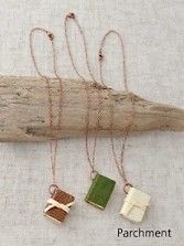 Book Necklace On Copper Chain