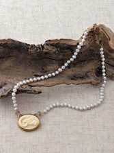 Ram's Head Medallion Pearl Necklace
