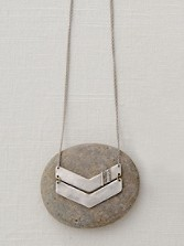 Handcarved Chevron Necklace