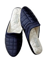 Quilted Satin Jackie Slippers