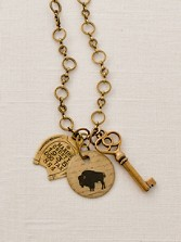 Bison Charm Necklace