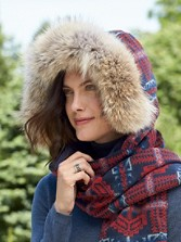Coyote Fur Hat Wrap