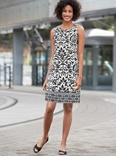 Arianna Scallop Print Dress