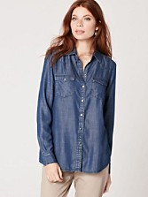Snap Front Tencel Denim Shirt