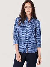 No-iron Oval Print Shirt