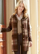Plaid Sweater Coat