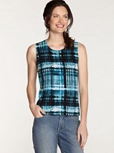 Plaid Sleeveless Shell