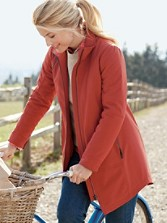Water-resistant Zip-front Coat