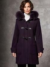 Fur-trimmed Toggle Coat