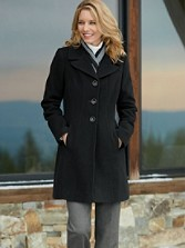 Merino Wool Seamed Walker Coat