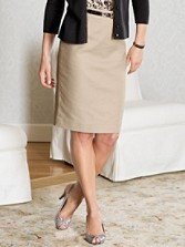 Textured Weave Pencil Skirt