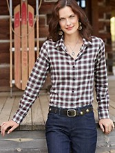 Felicia Plaid Flannel Shirt
