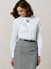 Pleat-collar Shirt