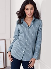 Fitted Sara Stripe Shirt