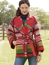 Sedona Jacquard Wrap Coat